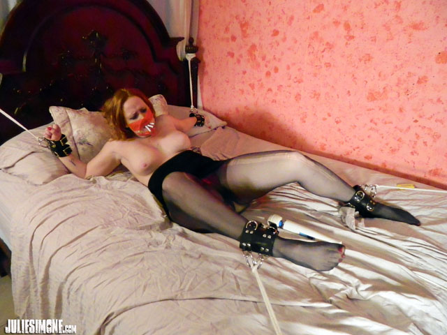 Julie Simone Bound Tease and Denial w Cigarette Predicament